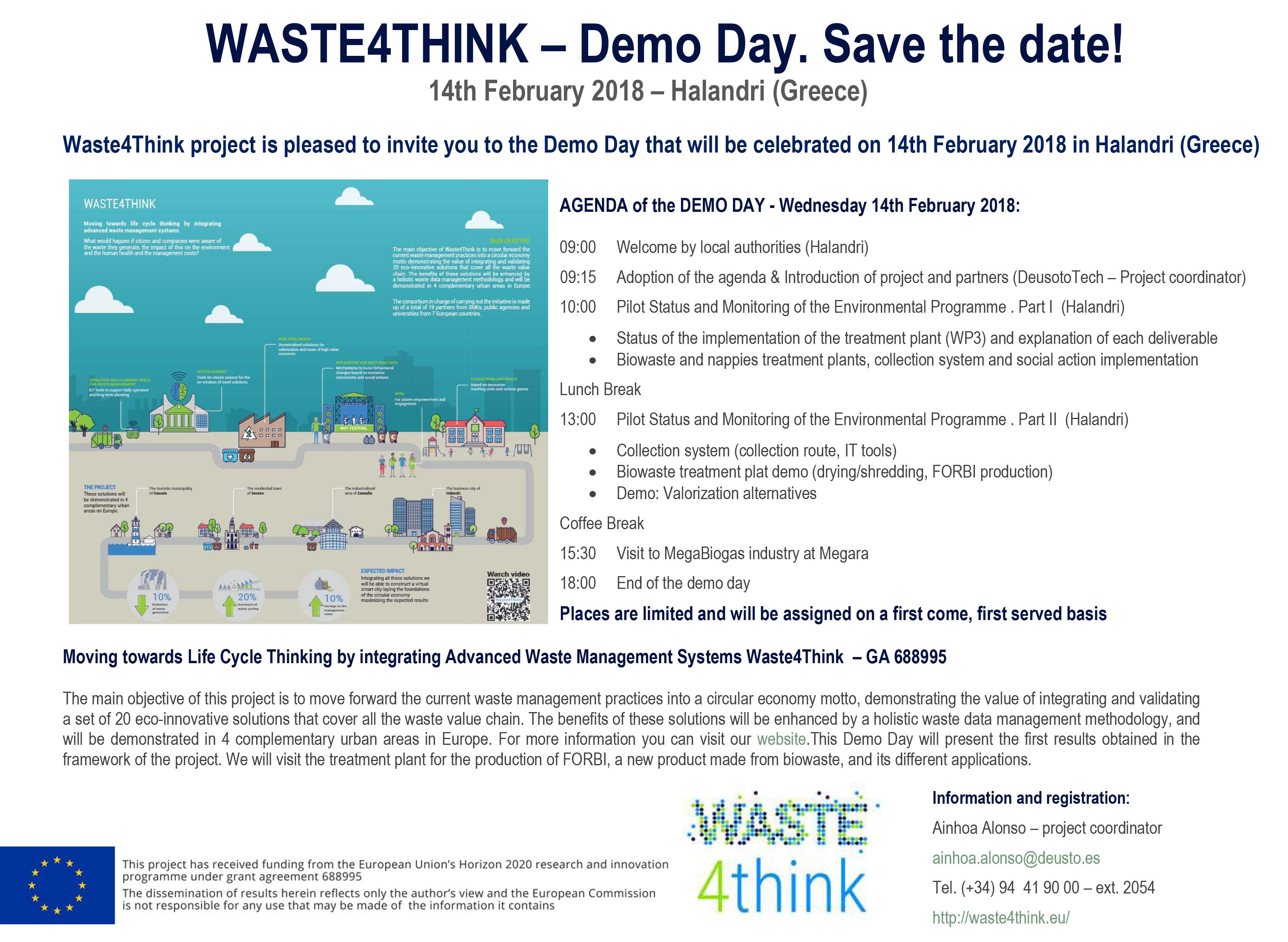 Reunión de revisión del proyecto Waste4Think en Halandri (Grecia ...